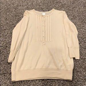 J crew cream cashmere sweater